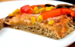 Pizza z mąką owsianą