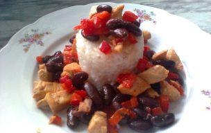 Ryż z fasolą i kurczakiem