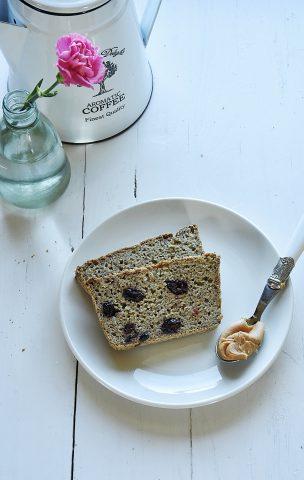 Chleb jaglano – ryżowy z żurawiną i rozmarynem