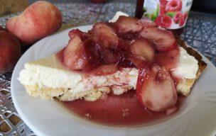 Tarta z mascarpone i brzoskwiniami
