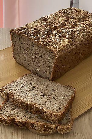 Bezglutenowy chleb gryczano-owsiany bez drożdży