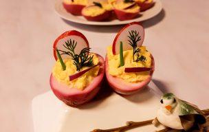 Jajka faszerowane sosem chrzanowo-majonezowym