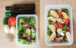Lunch BOX – sałatka z jajkiem
