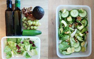 Zielony lunchbox bez glutenu